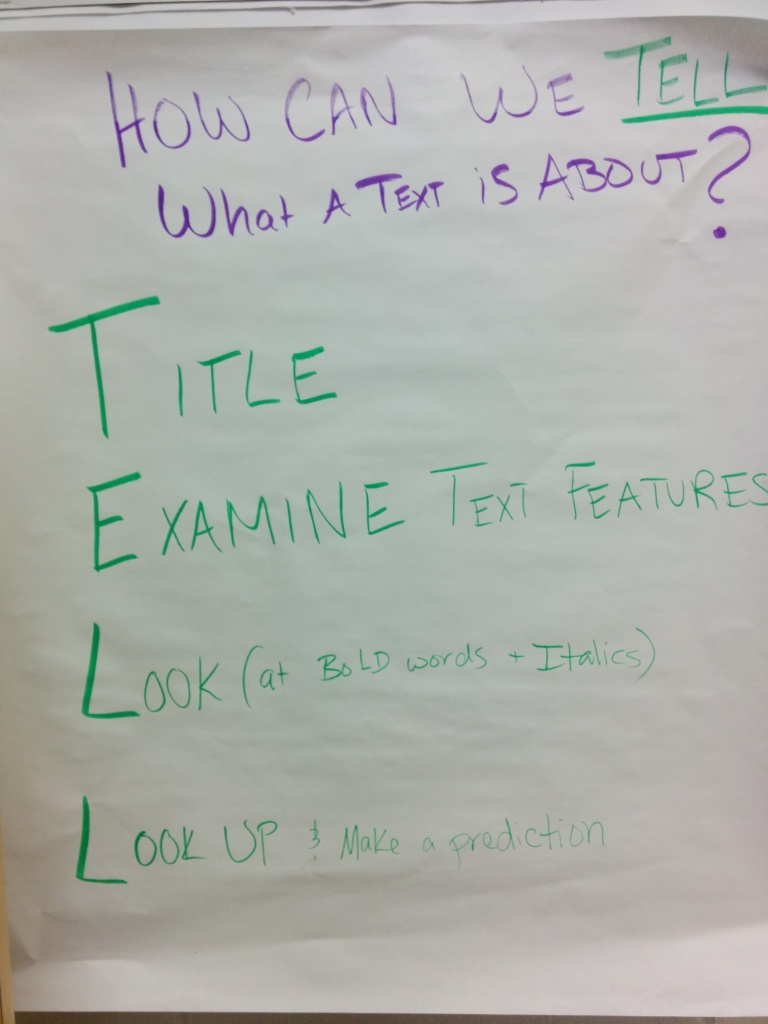 Using TELL to preview a text before close reading